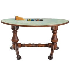 American Black Jack Game Table in Mahogany