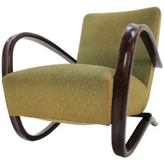 H269 Armchair by Jindrich Halabala in Original Upholstery, Up Zavody