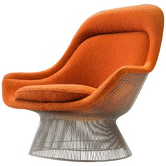 Warren Platner Easy Chair in Original Orange Fabric