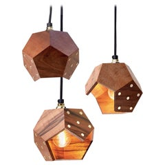 Basic Twelve Trio Walnut Pendant Lamp by Plato Design