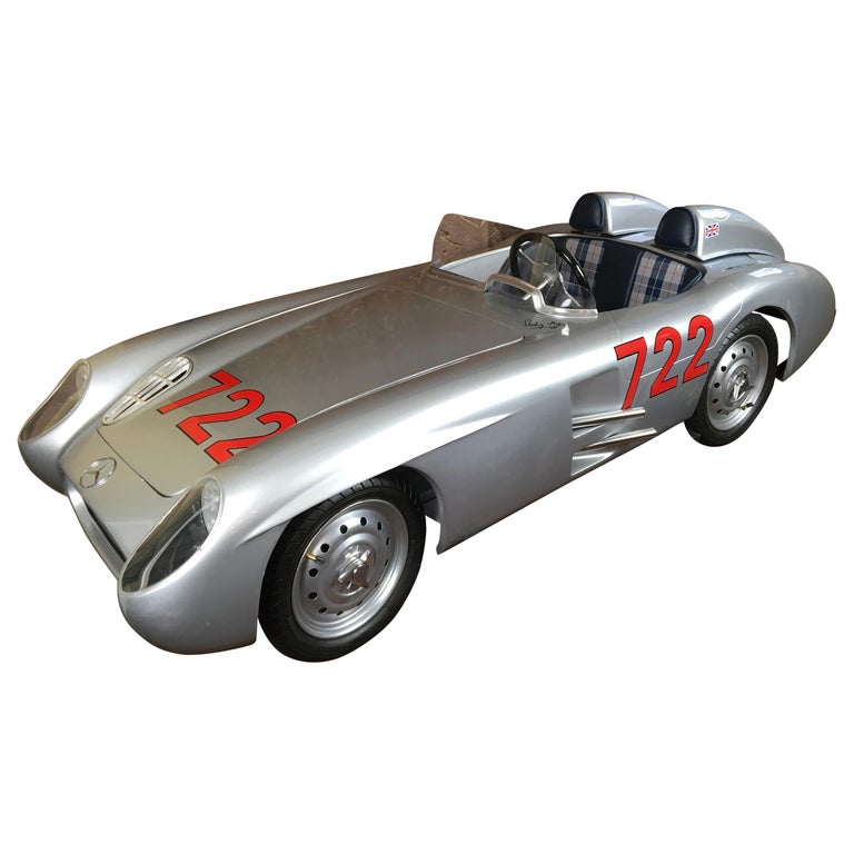 1/2 Scale Mercedes-Benz 300 SLR 722 Junior Car, Signed By