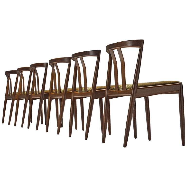 Danish Set of Six Teak Dining Chairs, 1960s For Sale