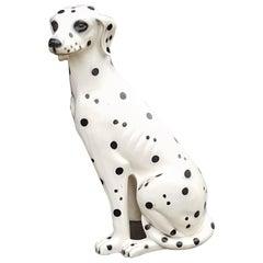 1960s Panted Terracotta Dalmatian