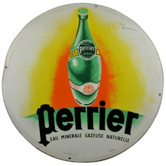 Round Metal Wall Sign, Soda Perrier, Nova, Neuhaus, 1970s