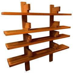 Elm Bookshelves by Pierre Chapo, Model B17a
