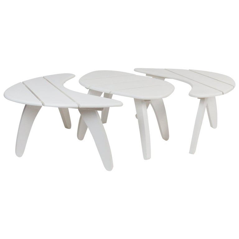 Set of Three Garden Coffee Tables For Sale
