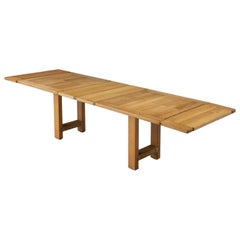 Guillerme et Chambron Solid Extendable Dining Table in Oak