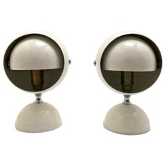 Pair of 1970s Space Age Eye Ball Lamp