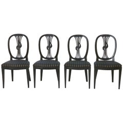 Set of Four Hepplewhite Chairs, London, 1790s