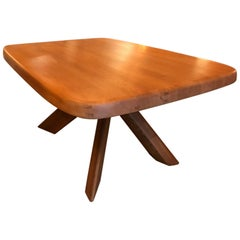 Elm Table Model Aban T35c by Pierre Chapo