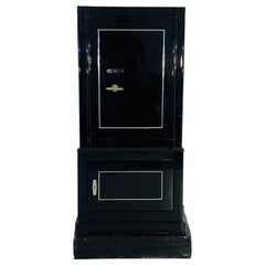 1930s Black Lacquer Safe or Vault, C.A. Streuli, Switzerland