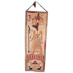 Early 20th Century Grand Tour Egyptian Style Tapestry with Anubis
