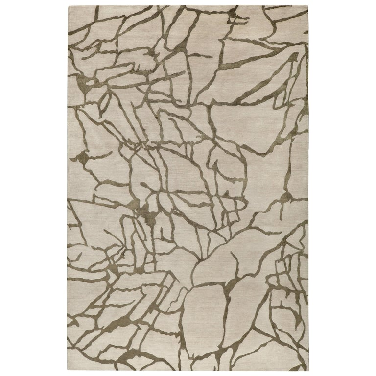 Tracery Hand Knotted 14x10 Rug in Wool and Silk by Kelly Wearstler For Sale