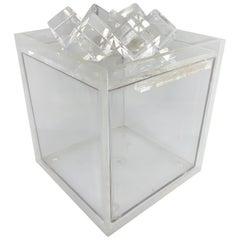 Mid-Century Modern Acrylic Ice-Cube Topped Ice Bucket