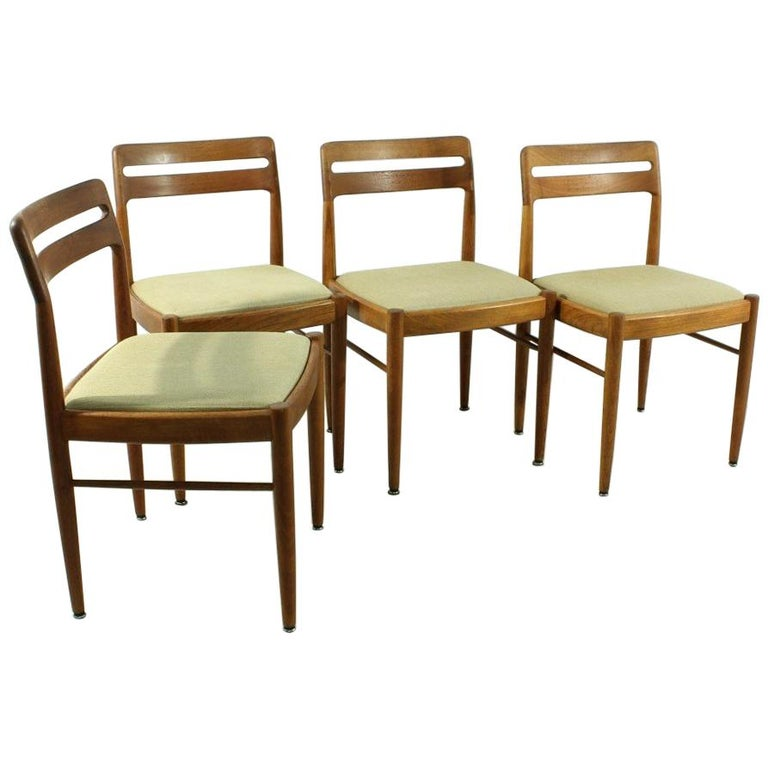 Set of 4 1960s Teak Dining Chairs by H.W. Small for Bramin For Sale