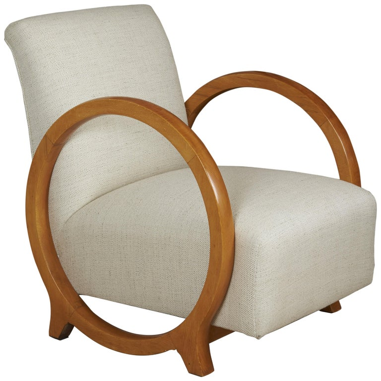 Armchair by Jacques Adnet For Sale