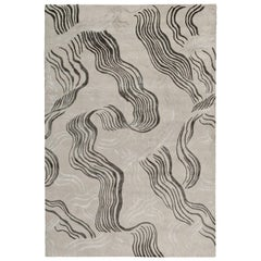 Wake Hand-Knotted 9x6 Rug in Wool and Silk by Kelly Wearstler