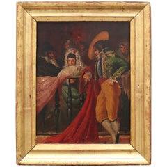 19th Century Spanish Oil on Wood Painting in Bullfighter Style