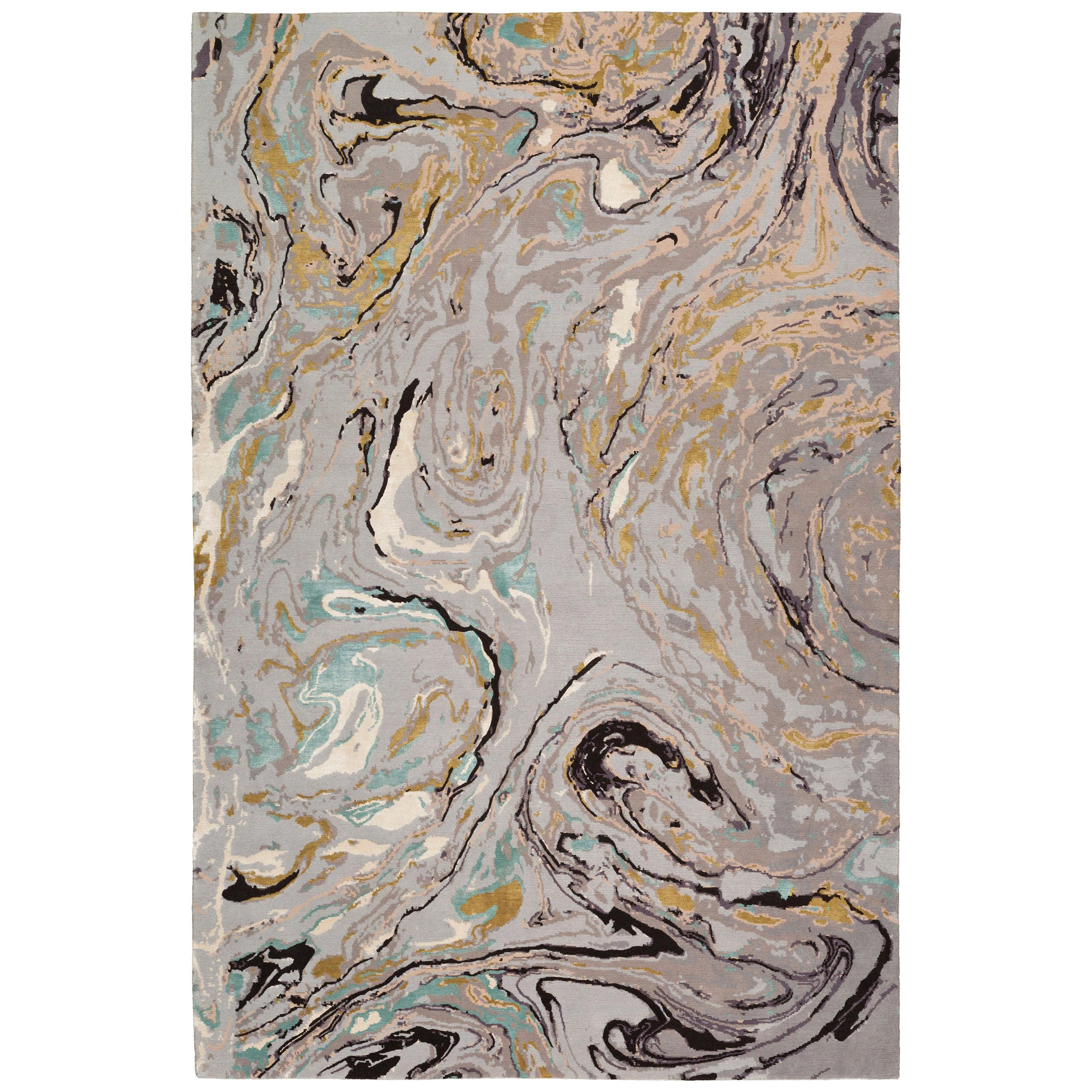 Marble Hand Knotted 10x8 Rug in Wool and Silk by Rodarte