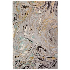 Marble Hand-Knotted 14x10 Rug in Wool and Silk by Rodarte
