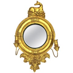 William IV Style Giltwood Girandole Mirror