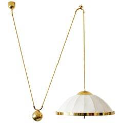Large Mid-Century Modern Counter Balance Pendant Lamp by WKR, 1970s, Germany