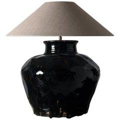 Antique Chinese Water Jar Mounted as Lamp