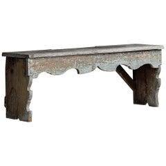 Wabi-Sabi, Primitive Wooden Bench with Great Patina