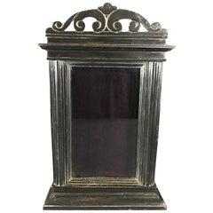 Early 19th Century Ebonized Poplar Tabletop Showcase from Arezzo, Italy