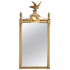 Georgian Adam Period Giltwood Pier Glass Mirror
