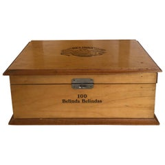 Belinda 100 Wooden Authentic Box, British American Tobacco, 1980s