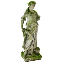 Garden Sculpture of a Flower Girl, Early 20th Century