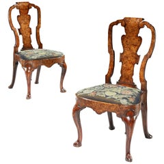 Pair of 18th Century George II Walnut Side Chair Attributed to Giles Grendey