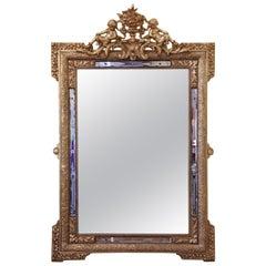 19th Century Italian Gilt Frame Mirror