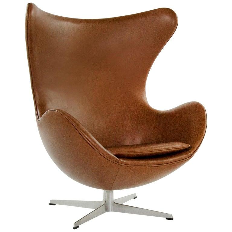 Arne Jacobsen for Fritz Hansen Egg Chair, Denmark, 1966 For Sale