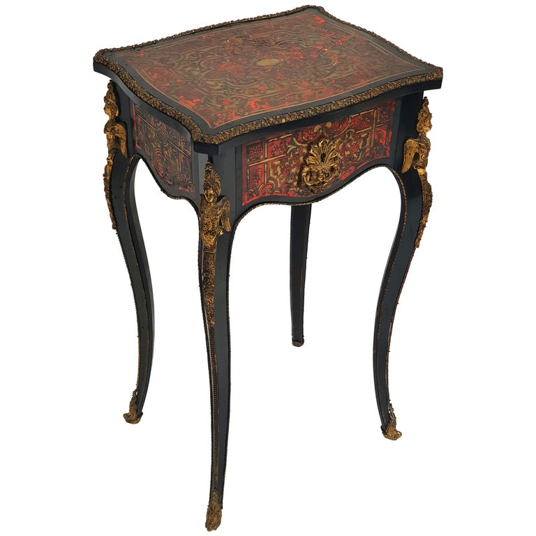 Manufactory of A. Lemoine, Boulle or Napoleon III, Sewing Table, 1850s For Sale