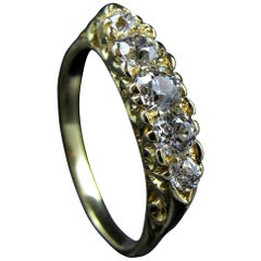 Victorian 18-Karat Gold and Diamond Five-Stone Ring