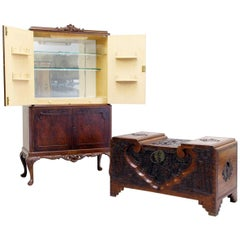 Very Nice Antique China Chest of Sandalwood and Matching Bar