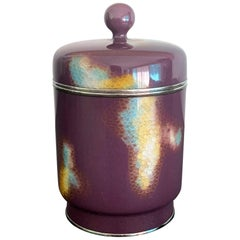 Japanese Cloisonné Covered Jar by Ando Jubei