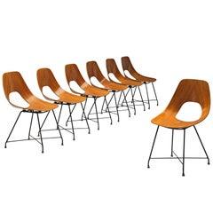 Saporiti Set of 'Ariston' Dining Chairs in Teak
