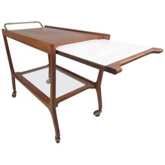 Sculptural Midcentury Italian Serving Cart