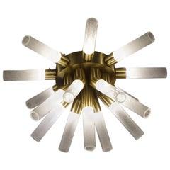 Alberto Donà Modern Style Crystal Murano Glass Sputnik Chandelier, 1998s