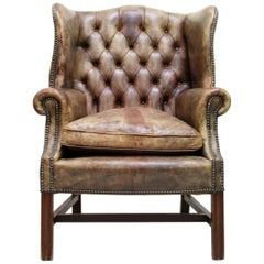 Chesterfield Armchair, Antique