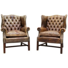 2-Chesterfield Armchair Armchair Wing Chair Antique Chair
