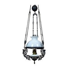 19th Century Hanging Kerosene Lamp