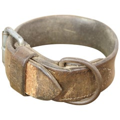 Early 20th Century Stitched Leather Dog Collar