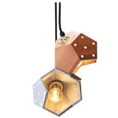 Basic Twelve Duo Walnut and Concrete Pendant Lamp by Plato Design