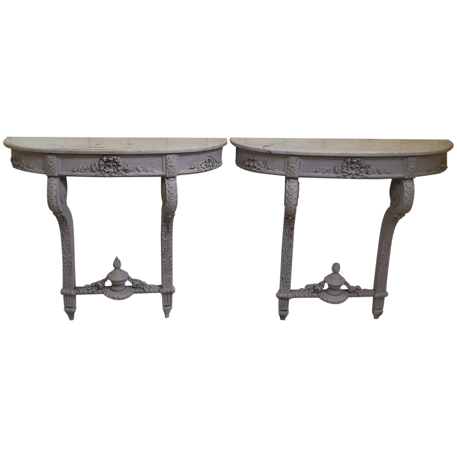 Pair Of French Antique Console Tables Or Pier Tables