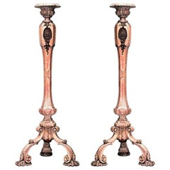 French Louis XV Stripped Pedestals