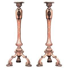 Französische gestreifte Sockel im Louis-XV-Stil